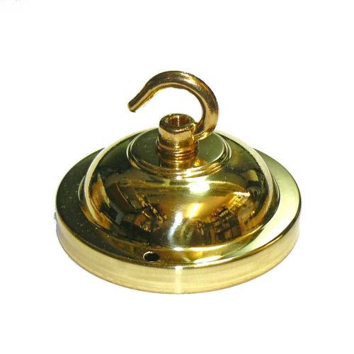 90mm Solid Brass Polished Finish Hooked Ceiling Rose Plate